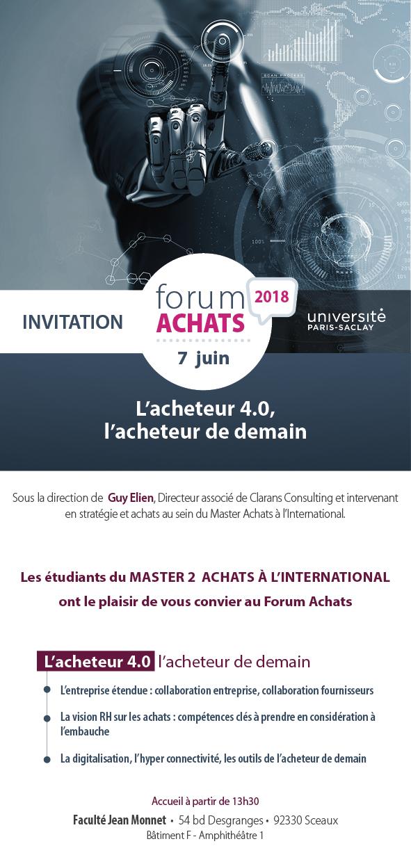 Forum Achats 2018 : L'acheteur 4.0, l'acheteur de demain
